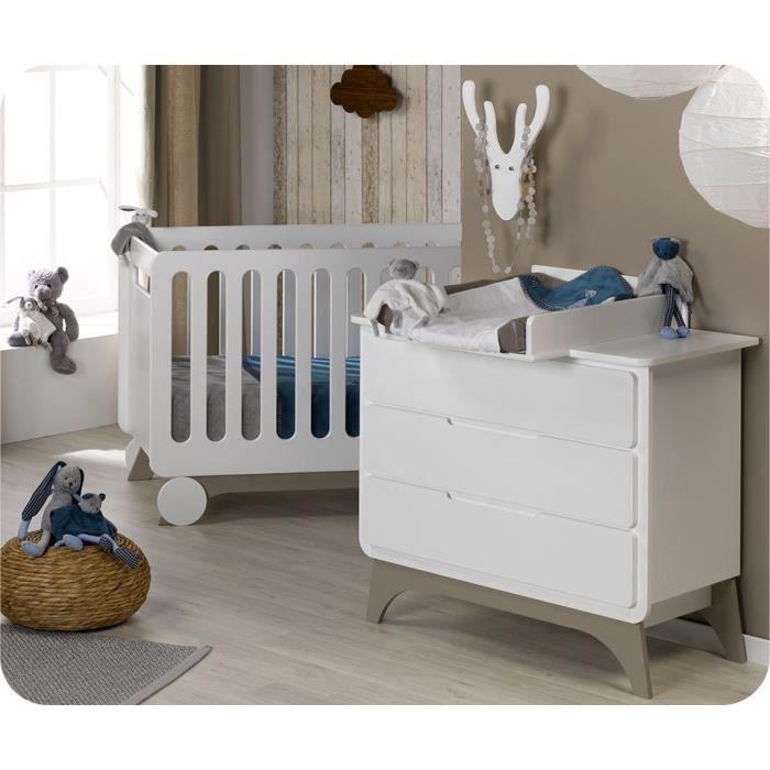 mini chambre b b pepper blanche et lin achat vente chambre compl te b b 2009954751905. Black Bedroom Furniture Sets. Home Design Ideas