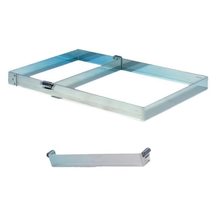 Reduction inox en largeur pour cadre 57x37cm longueur 37cm - Inox pour cuisine ...
