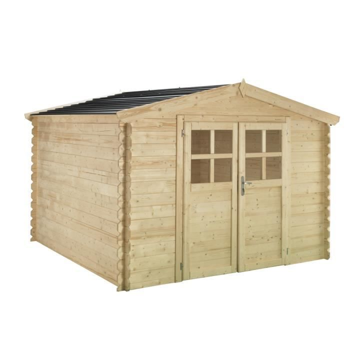 soleil abri en bois toit pvc 3x2 m 6 32 m 28 mm achat vente abri jardin chalet abri bois. Black Bedroom Furniture Sets. Home Design Ideas