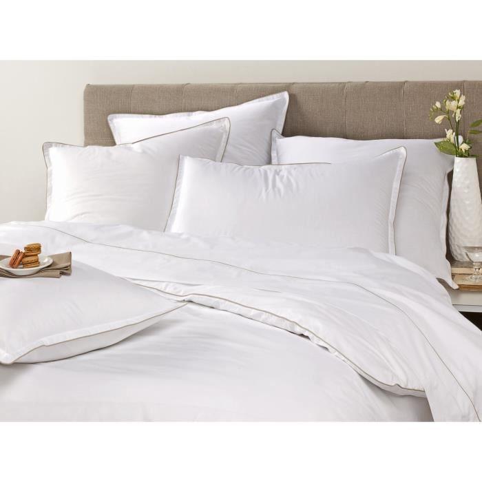 linge de lit parure de drap blanc cerise 600518 ho achat vente parure de drap cdiscount. Black Bedroom Furniture Sets. Home Design Ideas
