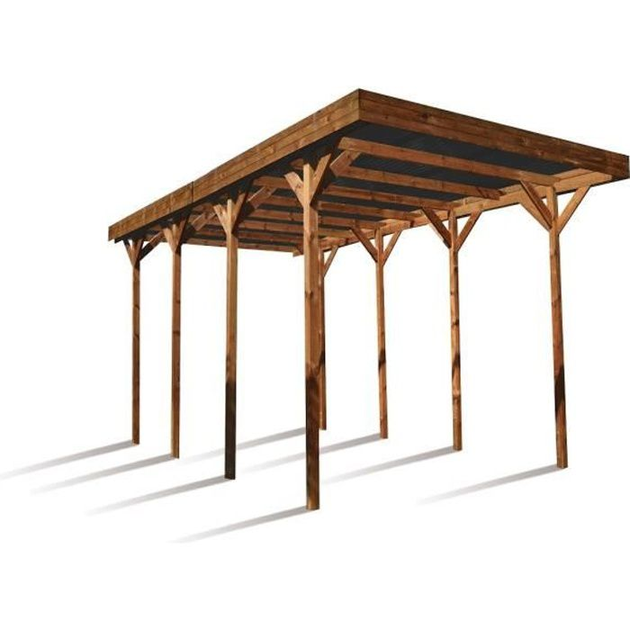 madeira carport autoportant en bois pour camping car 30m achat vente carport carport en. Black Bedroom Furniture Sets. Home Design Ideas
