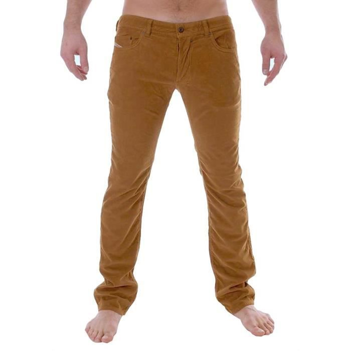 diesel pantalon velour coupe jeans marron homme safado. Black Bedroom Furniture Sets. Home Design Ideas