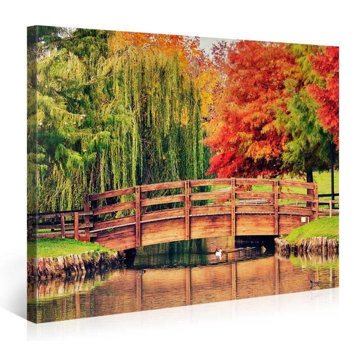 tableau sur toile parc color 100x75cm achat vente. Black Bedroom Furniture Sets. Home Design Ideas