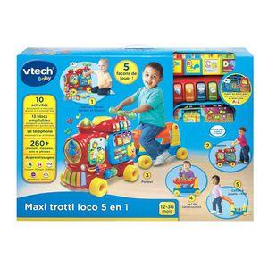 VTECH Maxi Trotti Loco 5 En 1 Rouge