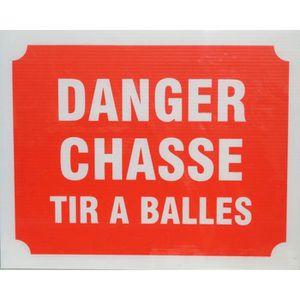 Panneau Danger Chasse Tir ? Balles X 3