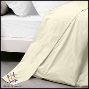 drap plat uni 1 personne achat vente drap plat uni 1 personne pas cher cdiscount. Black Bedroom Furniture Sets. Home Design Ideas