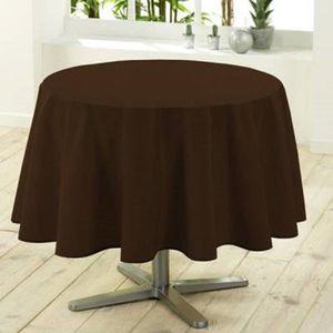 nappe ronde chocolat achat vente nappe ronde chocolat pas cher cdiscount. Black Bedroom Furniture Sets. Home Design Ideas
