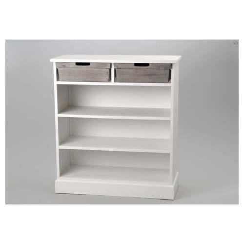 Bibus blanc et bois amadeus achat vente petit meuble for Petit meuble blanc et bois