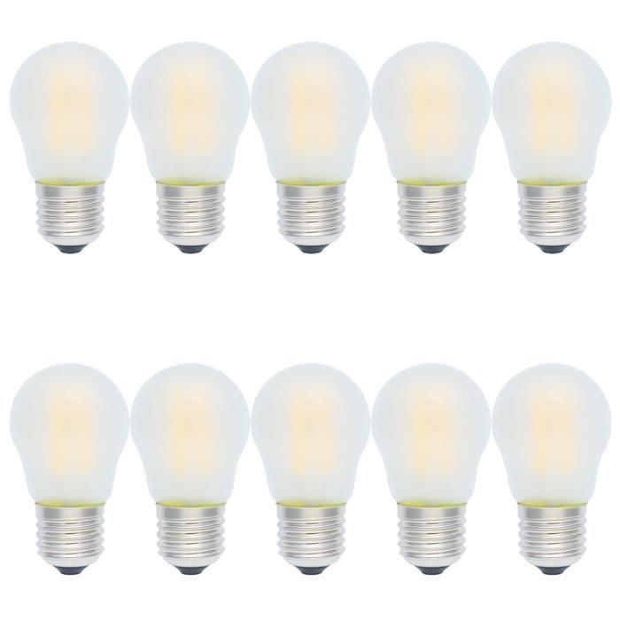 10x e27 ampoule de filament dimmable 4w led vintage g45 givr ampoule edison 400lm blanc chaud. Black Bedroom Furniture Sets. Home Design Ideas