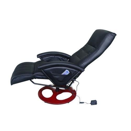 fauteuil massant relaxant chauffant noir achat vente fauteuil polyur thane cuir textile. Black Bedroom Furniture Sets. Home Design Ideas