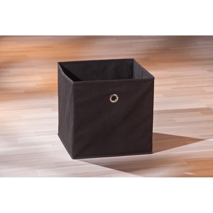 boite de rangement carr coloris noir design achat vente boite de rangement cdiscount. Black Bedroom Furniture Sets. Home Design Ideas