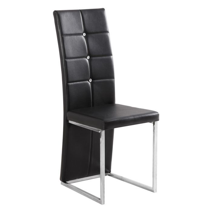 chaises design mona simili et acier chrom no achat vente chaise acier chrom pu cdiscount. Black Bedroom Furniture Sets. Home Design Ideas