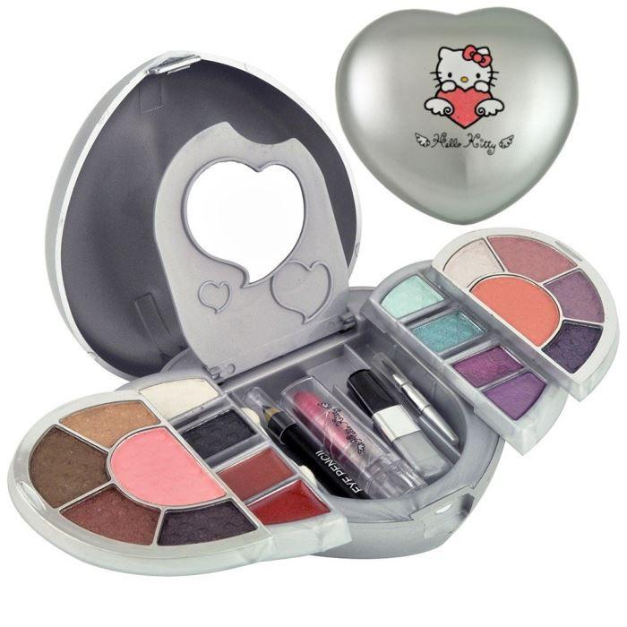 PALETTE DE MAQUILLAGE  Palette Maquillage Cœur Hello Kitty  - 23 pièces