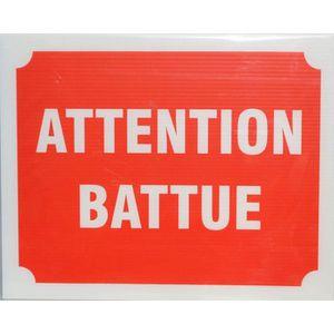 Panneau Attention Battue X 3
