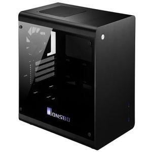 JONSBO Boitier PC RM3 - Mini tour - Format Micro ATX - Fen?tre Verre trempé - Alumium - Noir