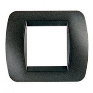 Plaque Graphite noir - 2 modules