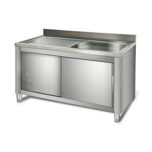 Meuble cuisine bas inox achat vente meuble cuisine bas - Meuble sous evier 1 m ...
