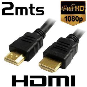 CÂBLE TV - VIDÉO - SON Câble HDMI mâle / HMDI mâle - 2 m