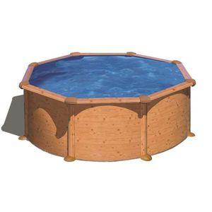 piscine bois aspect bois achat vente piscine bois aspect bois pas cher cdiscount. Black Bedroom Furniture Sets. Home Design Ideas