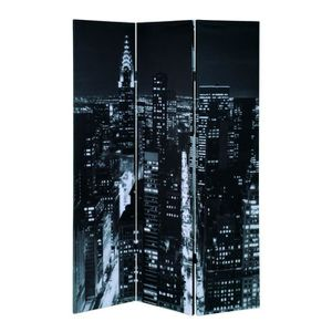 PARAVENT Paravent pliable 3 panneaux 180 cm gris