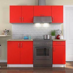 meuble cuisine complete rouge achat vente meuble cuisine complete rouge pas cher cdiscount. Black Bedroom Furniture Sets. Home Design Ideas