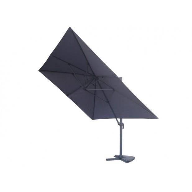 Magnifique parasol d port 3x4m proxima gris achat vente parasol magnif - Parasol de jardin rectangulaire ...
