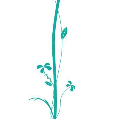 Sticker nature brin d 39 herbe grand format pour 102 x 44 - Stickers muraux grand format ...