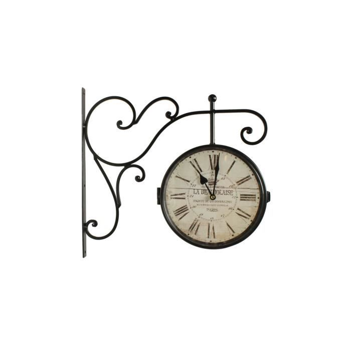 Horloge de gare ancienne double face la beaujol achat vente horloge fer - Horloge de gare double face ...