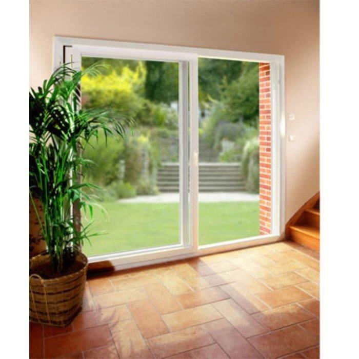 Coulissant alu h 55 cm x l 370 cm double vitrage achat for Achat fenetre double vitrage