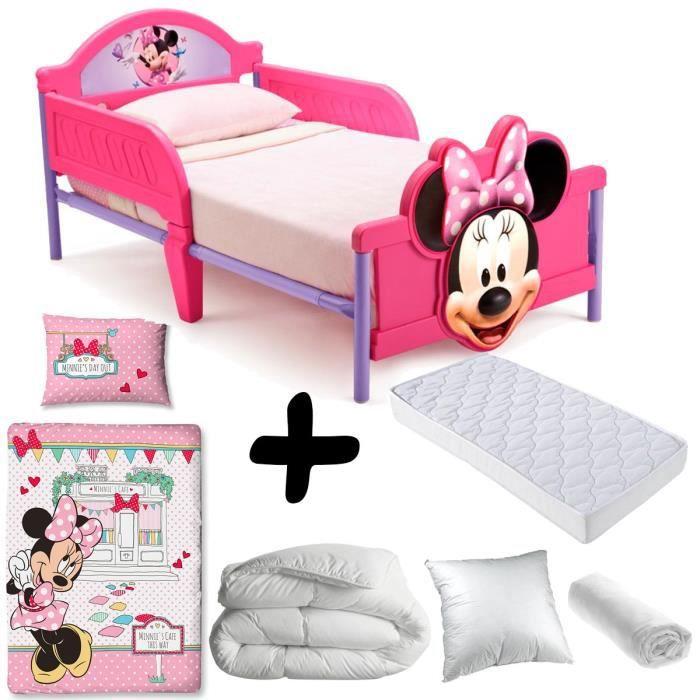 chambre minnie rouge pack complet premium lit minnie mouse ud matelas u parure couette oreiller. Black Bedroom Furniture Sets. Home Design Ideas