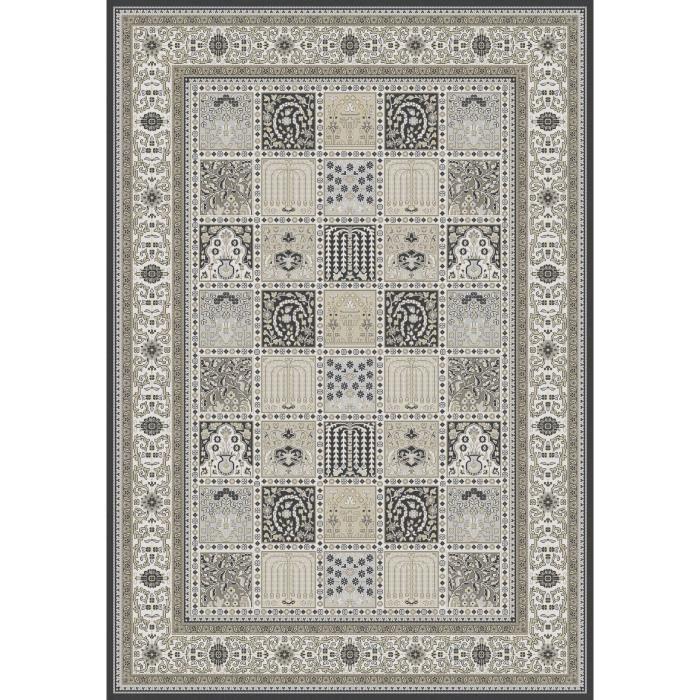 Tapis de salon ispahan 160x230 cm anthracite achat - Recherche tapis de salon ...