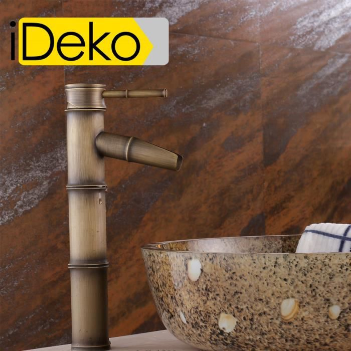 Ideko robinet mitigeur lavabo salle de bain en laiton rotation 360 degr s style japonais - Mitigeur lavabo salle de bain ...