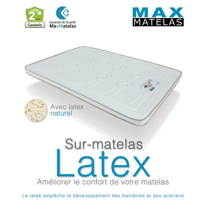 sur matelas en latex 80x200 achat vente sur matelas cdiscount. Black Bedroom Furniture Sets. Home Design Ideas