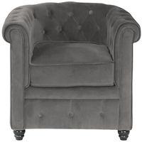 fauteuil chesterfield gris pas cher