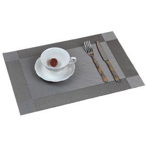 set de table pvc gris achat vente set de table pvc gris pas cher soldes cdiscount. Black Bedroom Furniture Sets. Home Design Ideas