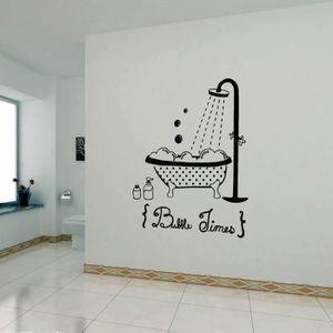 stickers muraux salle de bain noir achat vente. Black Bedroom Furniture Sets. Home Design Ideas