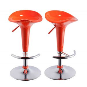 tabouret de bar orange. Black Bedroom Furniture Sets. Home Design Ideas