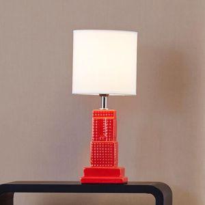 LAMPE A POSER Lampe à poser en céramique brillante forme buildin