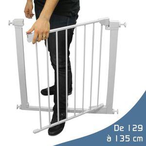 BARRIÈRE DE SÉCURITÉ  Barrière de sécurité extensible de 129cm à 135cm