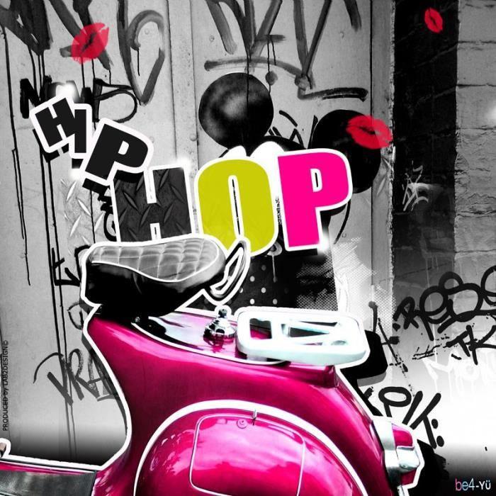 tableau plexi hip hop pink achat vente tableau toile cdiscount. Black Bedroom Furniture Sets. Home Design Ideas