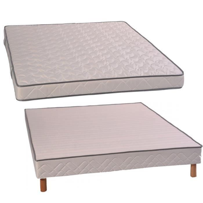alitea ensemble topaze sommier confort flex et pieds 140x200 latex achat vente ensemble. Black Bedroom Furniture Sets. Home Design Ideas