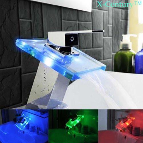 Mitigeur robinet salle de bain led avec 3 couleurs achat for Salle de bain 3 couleurs