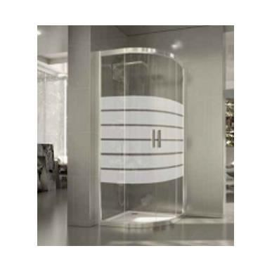 Cabine de douche arrondie delia seviban 80 x 80 cm decor 6 achat vente cabine de douche - Barre de douche arrondie ...