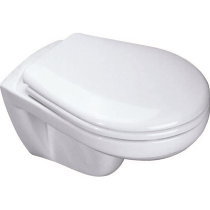 Eurovit cuvette suspendue avec abattant achat vente wc toilette bid - Abattant wc taille non standard ...