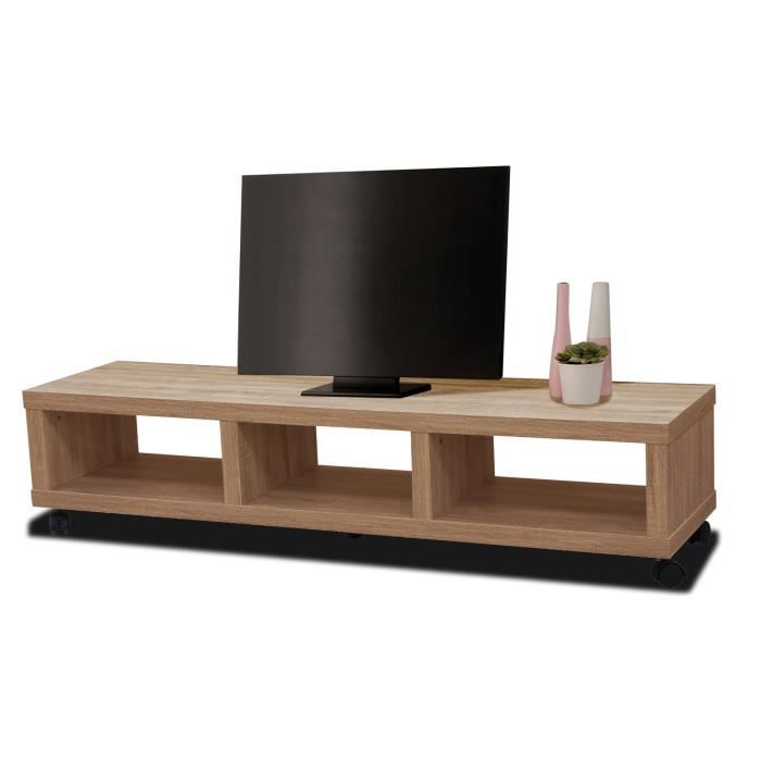 meuble tv hifi jerez ch ne clair achat vente meuble tv meuble tv hifi jerez cdiscount. Black Bedroom Furniture Sets. Home Design Ideas