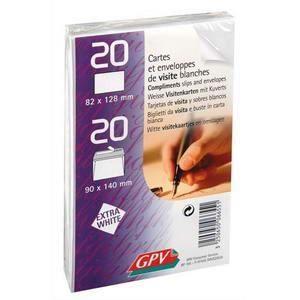 Paquet de 20 cartes de visite 20 enveloppes autoadh sive for Fenetre 90x140