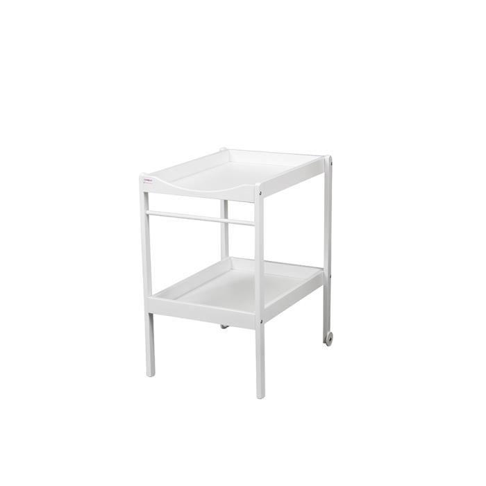table langer blanche qui roule pour un d placement. Black Bedroom Furniture Sets. Home Design Ideas