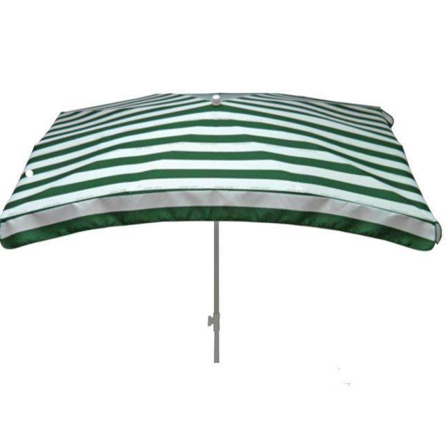 parasol rectangulaire cancale vert et blanc 200x140cm achat vente parasol parasol. Black Bedroom Furniture Sets. Home Design Ideas