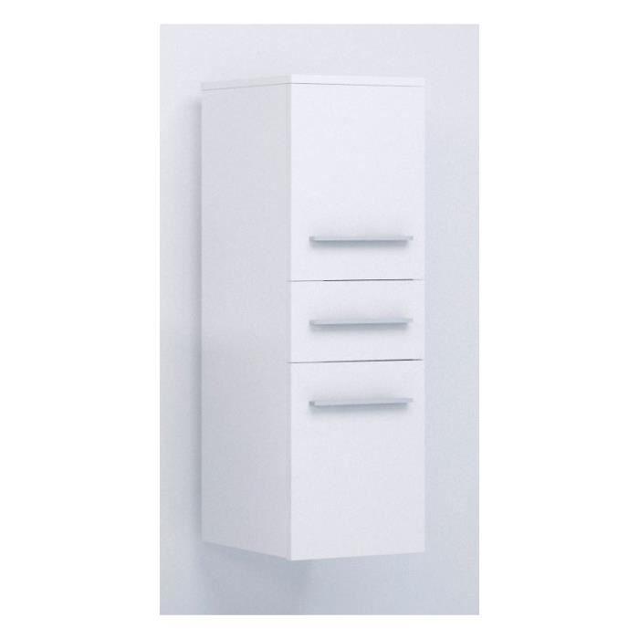 justhome lupo armoire murale suspendue de salle de bain blanc 92 x 30 x 32 cm achat vente. Black Bedroom Furniture Sets. Home Design Ideas