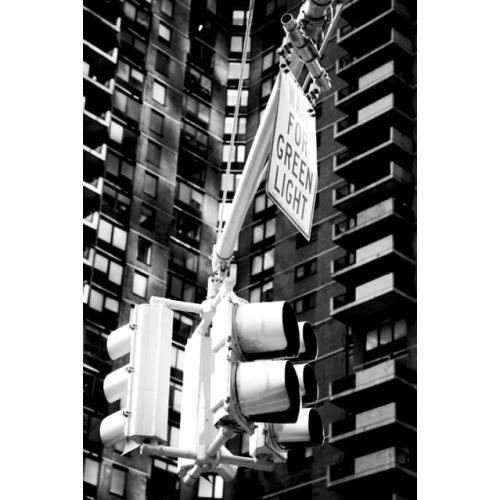 Tableau deco photo new york city noir et blanc au coeur de la ville pvc sat - Tableau noir et blanc new york ...